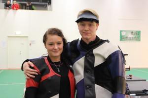 Louise Nilsson, vinnare av SM, samt Christoffer Efraimsson som slutade tvåa